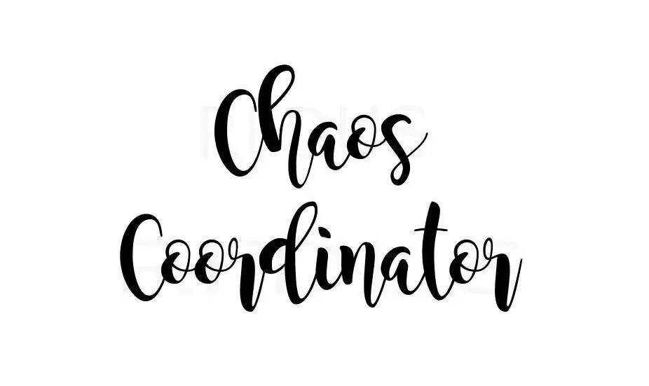 Download Chaos Coordinator SVG cricut cutting file mom svg mommy