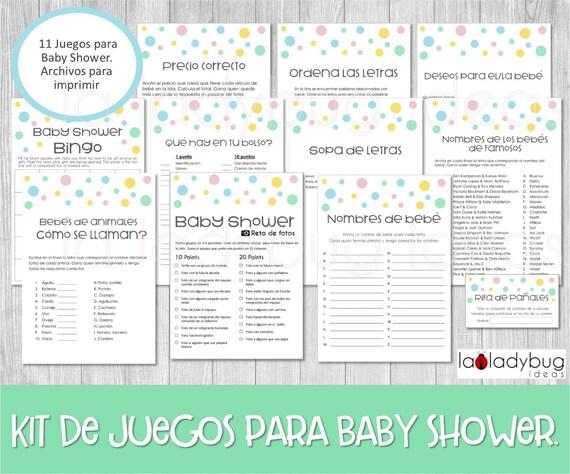 Imprimibles Gratis Para Juegos Baby Shower