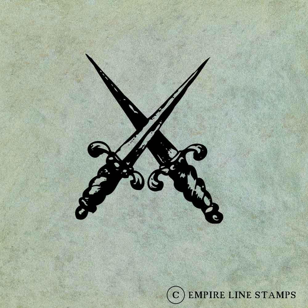 Crossed Daggers - Antique...