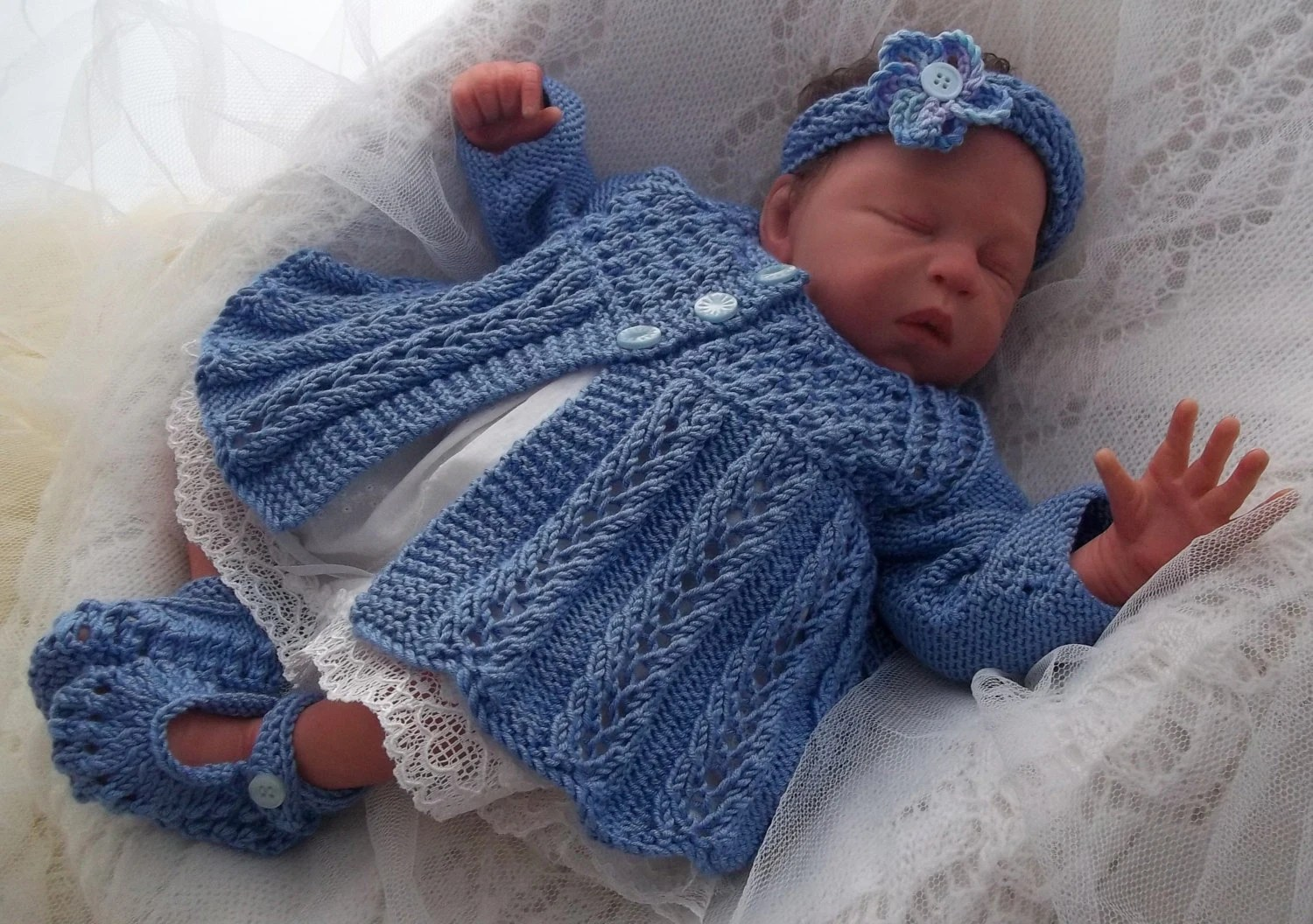 Knitted Baby Sweater Sets