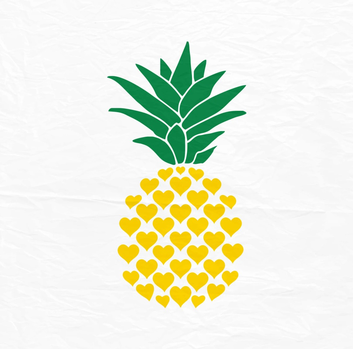 Download Pineapple svg Pineapple svg Svg Pineapple from hearts Dxf