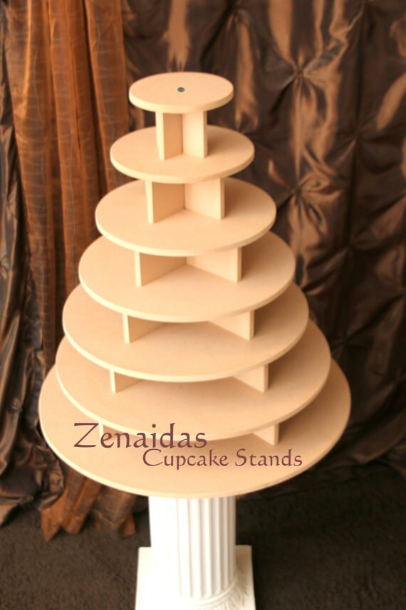 Cupcake Stand 7 Tier Round 200 Cupcakes Threaded Rod And