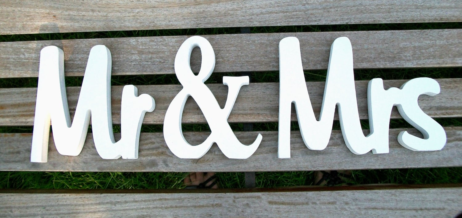 Handpainted Mr And Mrs Wedding Sign Wedding Reception Sign