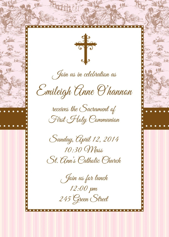 First Holy Communion Invitation First Communion Invitation