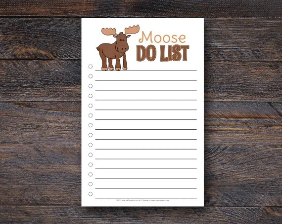 Must Have Office Supplies for Craft Business Owners: Moose Do List - Funny To Do List Notepad