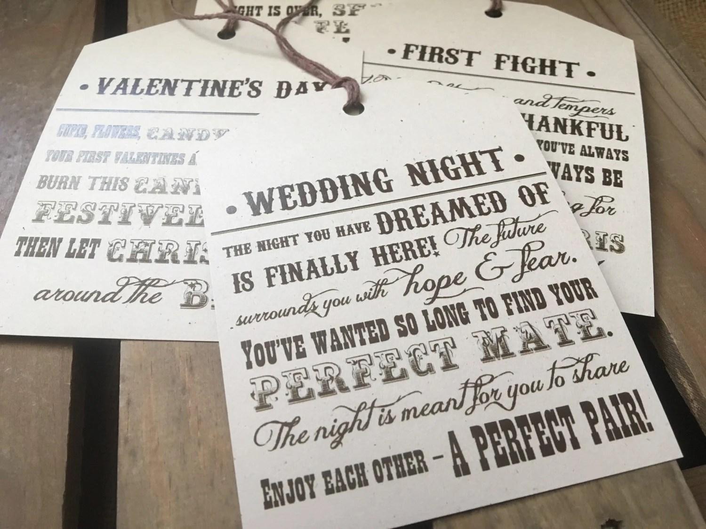 CUSTOM Wine Tags Bridal Or Wedding Shower Gift Poems