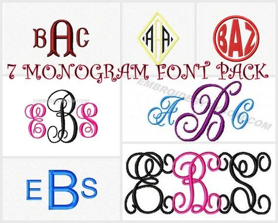 Download Monogram swirlinterlockvine font mega pack diamond