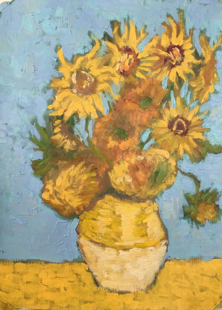 The sunflowers of Van Gog...