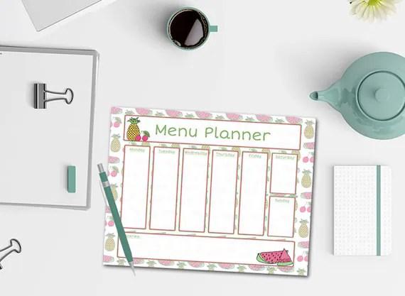 Fruit Salad Menu Planner Notepad