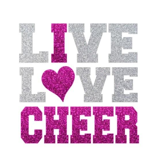 Download Live Love CHEER Iron On Love Cheerleading Iron On Transfer