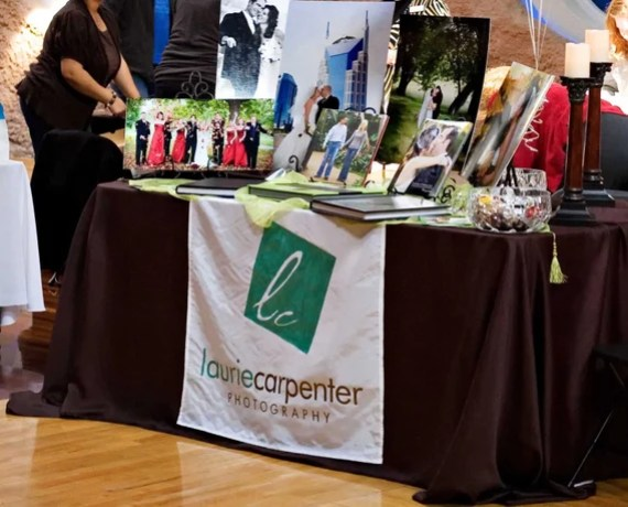 personalized table runner craft fair banner