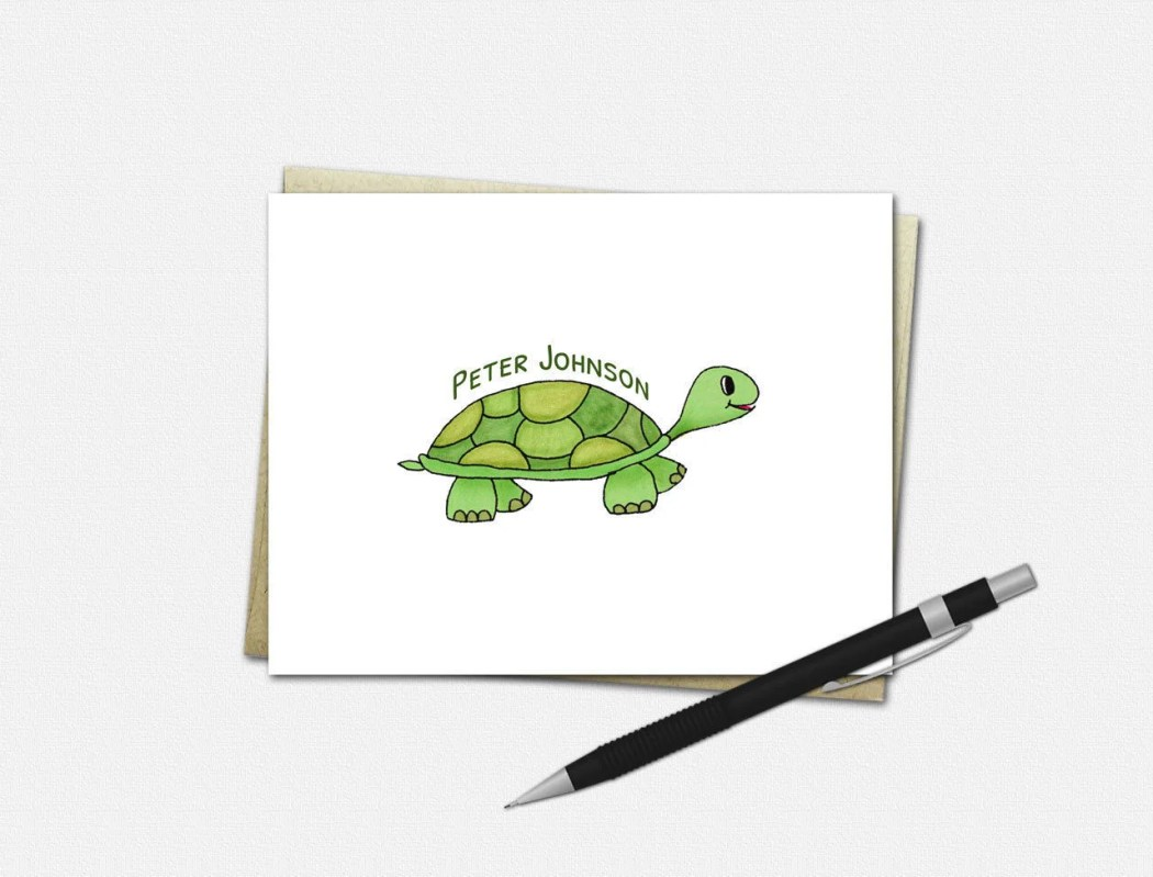 Personalized Turtle Note ...