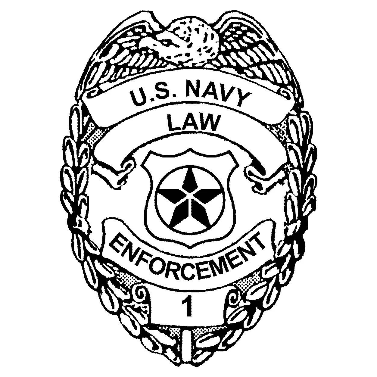 Master At Arms Military Police Badge Dxf File Format For Use
