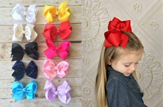 Set of 10 Girls Hair Bows