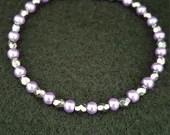 Beaded Bracelet, Purple a...