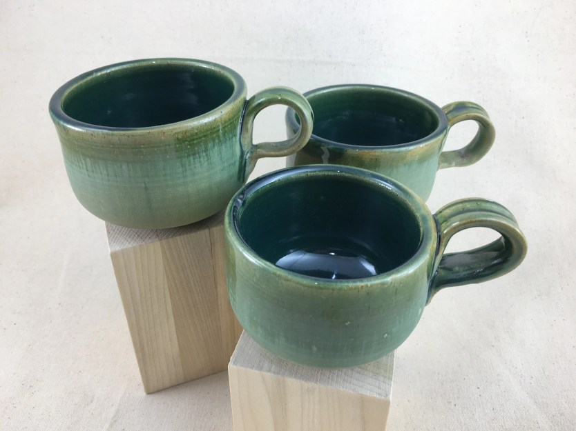 Green and Teal Teacup / M...