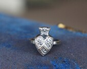 Solid Silver Antique Styl...