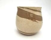 Vase - Brown-Buff Swirled...