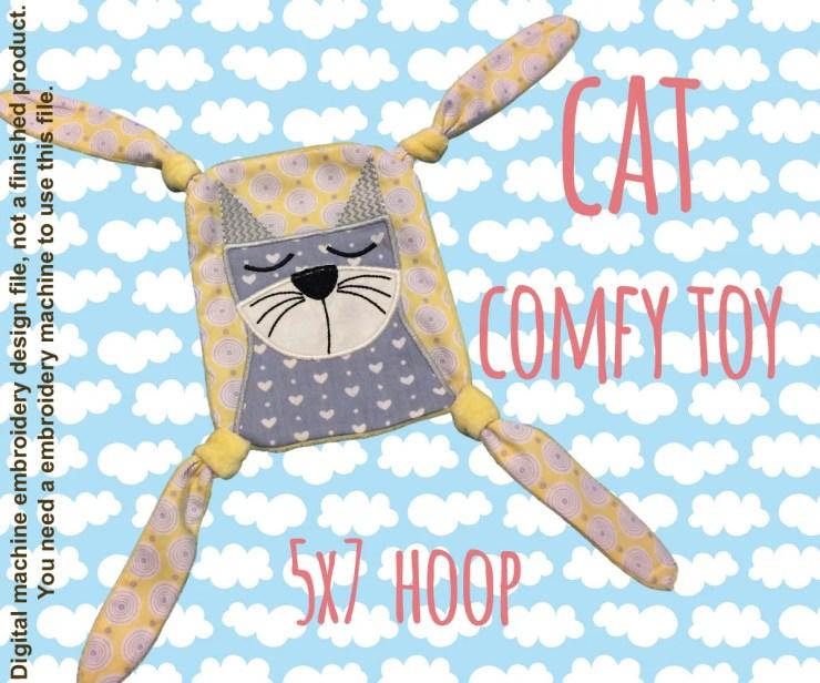 CAT 5x7 hoop - Baby Toy Blanket - ITH - In The Hoop - Machine Embroidery Design File, digital download