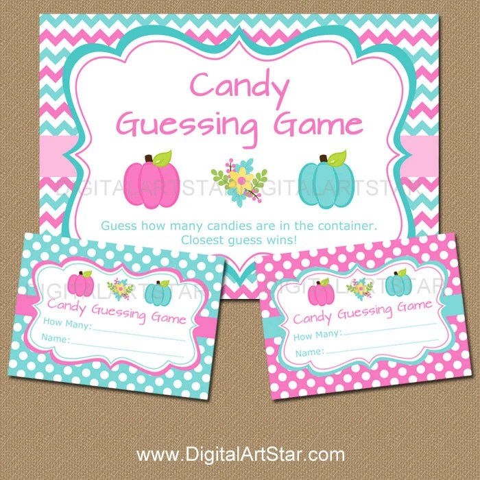 Gender Reveal Game Gender Reveal Candy Guessing Game