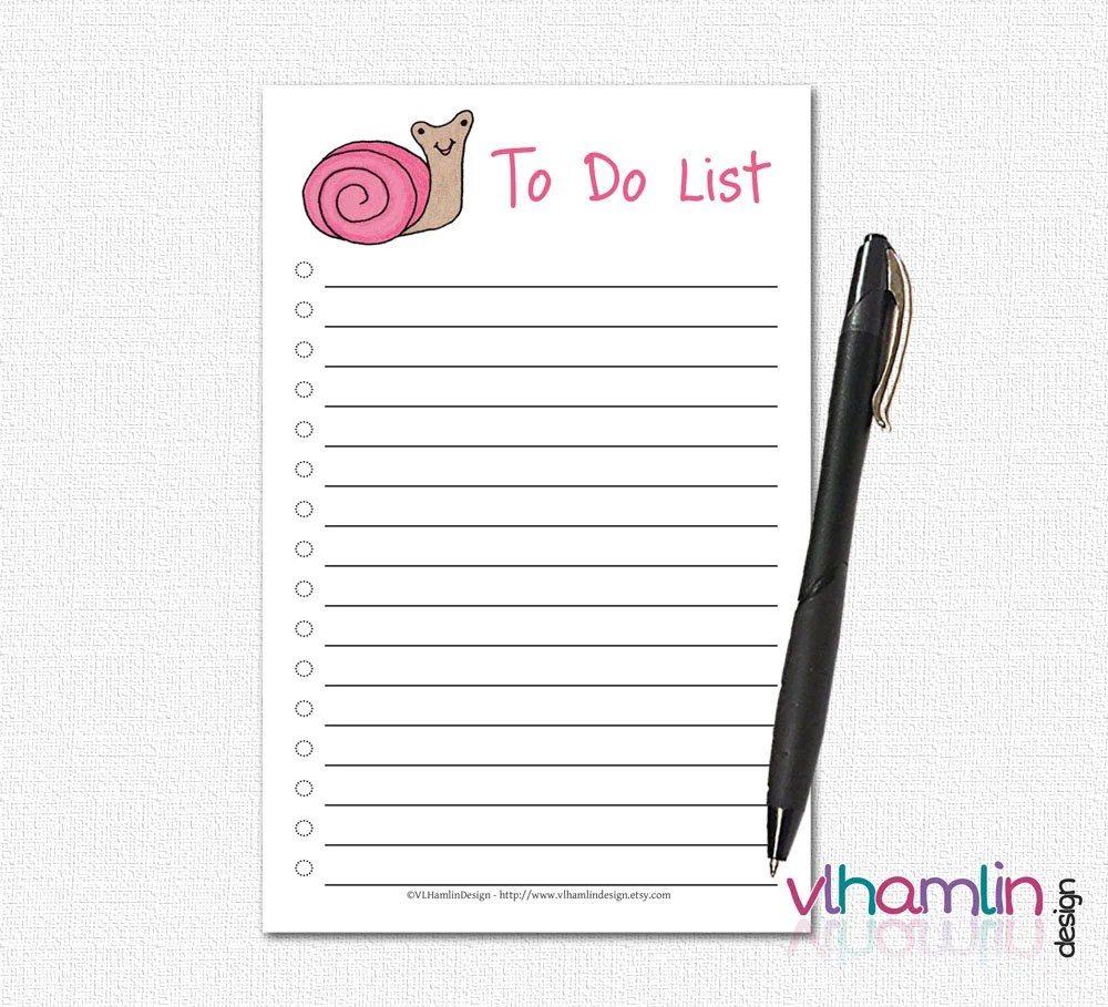 To Do Notepad - Cute To D...