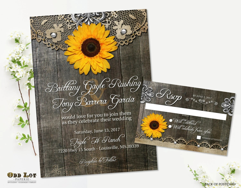 Doily Wedding Invitations