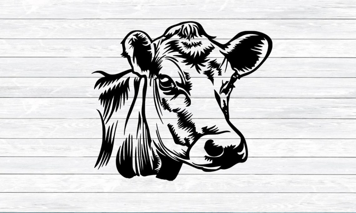 Download Cow Svg Cow Head DXF PNG SVG files for Silhouette