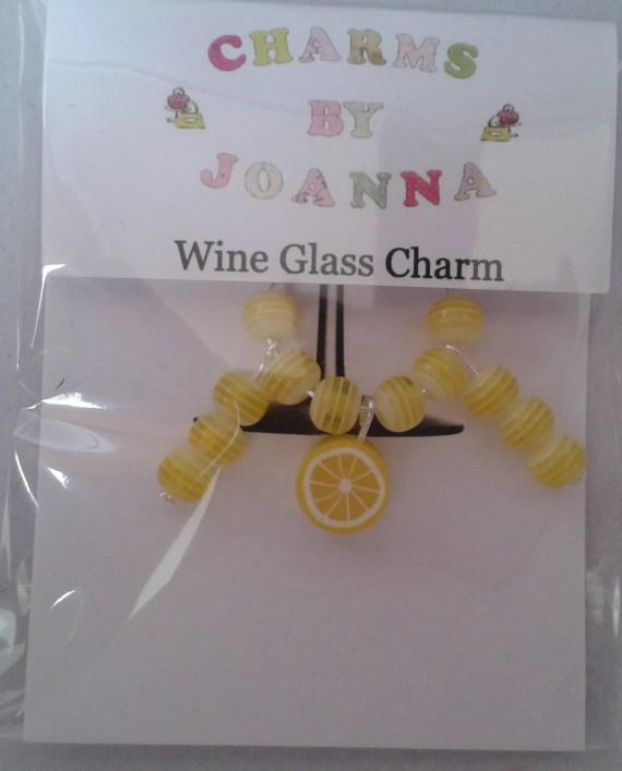 Lemon Wine Glass Charm