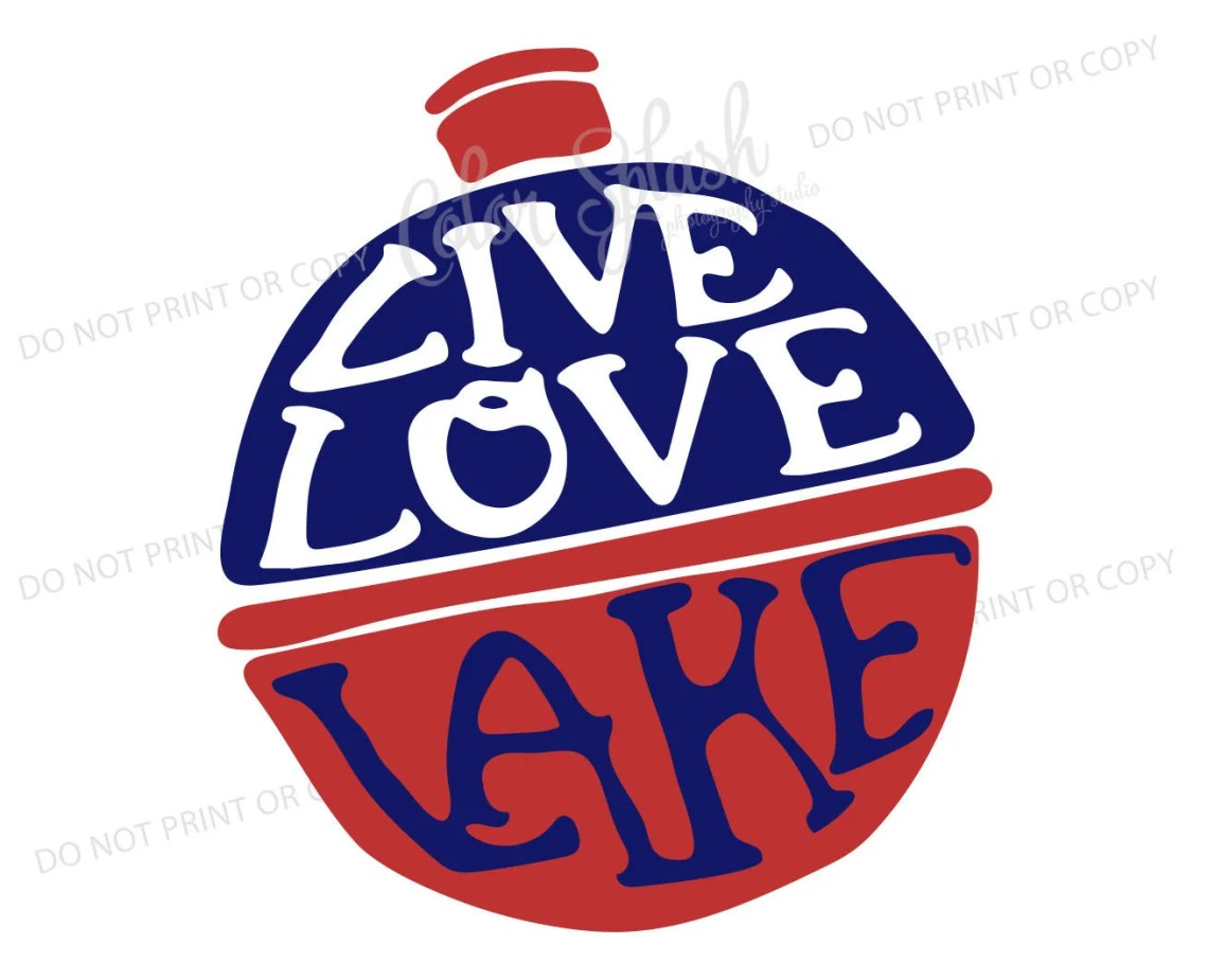 Download live love lake svg dxf png eps cutting file silhouette
