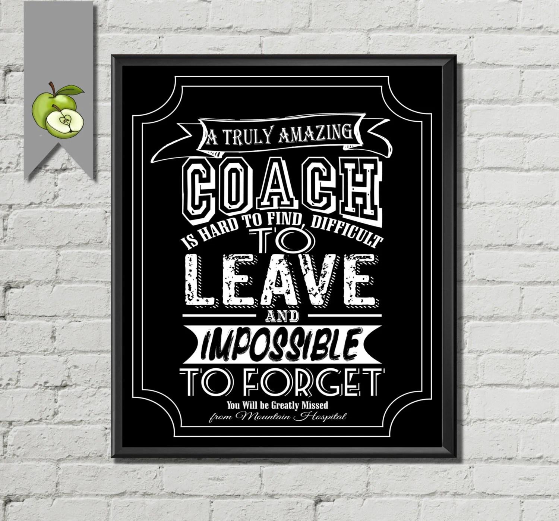 Coach Teacher Appreciation Gift Girls Boys Farewell Leaving