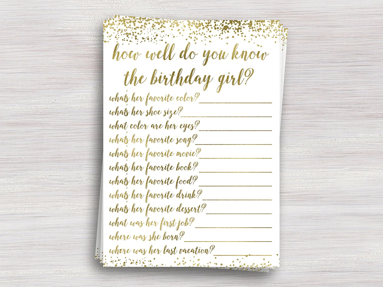 How Well Do You Know The Birthday Girl Girl Birthday Party