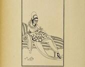 Art Deco Flapper Lady #2 ...