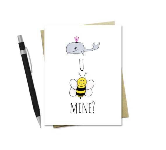 Whale You Be Mine - Valentine's Day Card