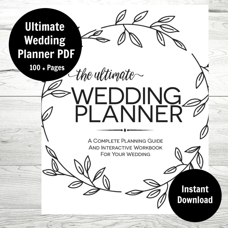 Wedding Planner Printable Wedding Binder Wedding Checklist