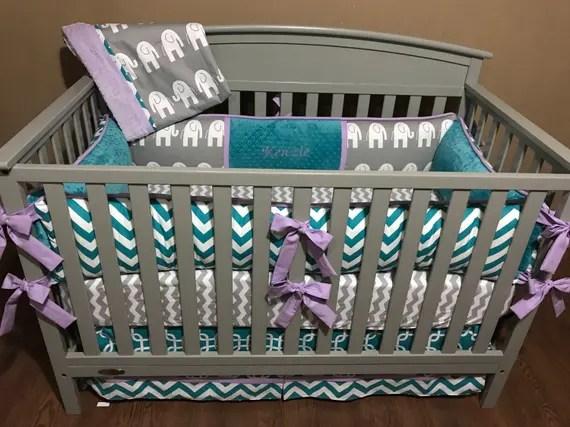 Made to Order Elephant Crib Set by Babysnugglesplusmom