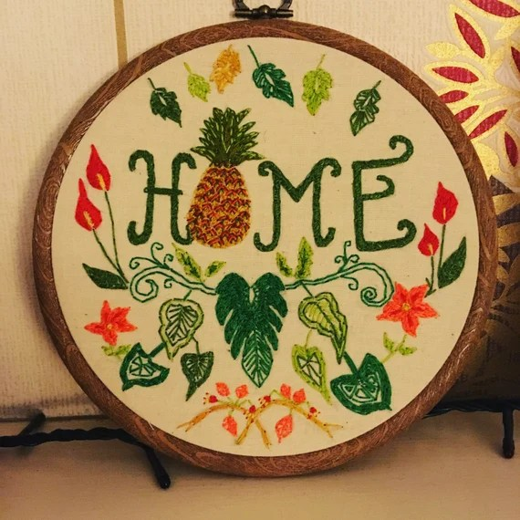 hand embroidered home decor