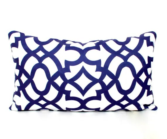 Geometric Blue Cushion Cover
