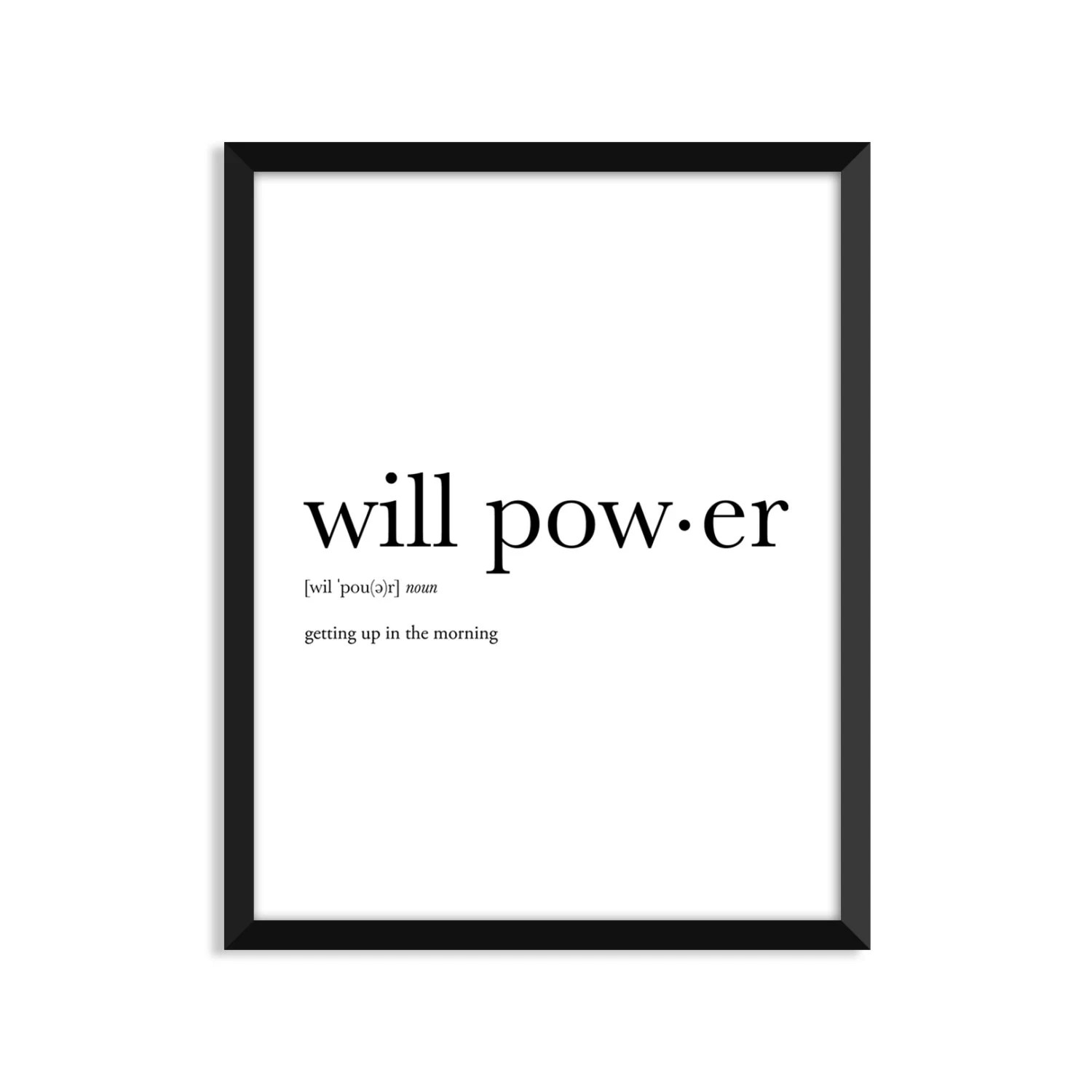 Will Power Definition Art Poster Dictionary Art Print