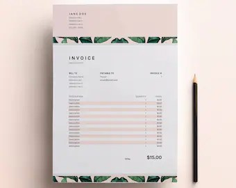 Business Invoice Invoice Design Template Simple Invoice Invoice Template  Business Invoice Spreadsheet  Google Sheets   Excel  Invoice  Freelance Invoice Design  Business Template Download