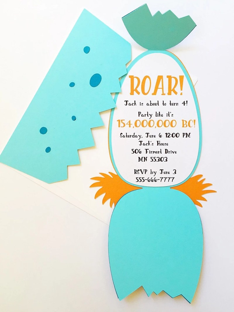 Fullsize Of Dinosaur Birthday Invitations Large