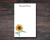 Sunflower Notepad - Custo...