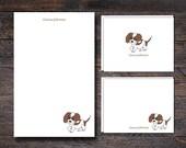 Beagle Dog Stationery Set...