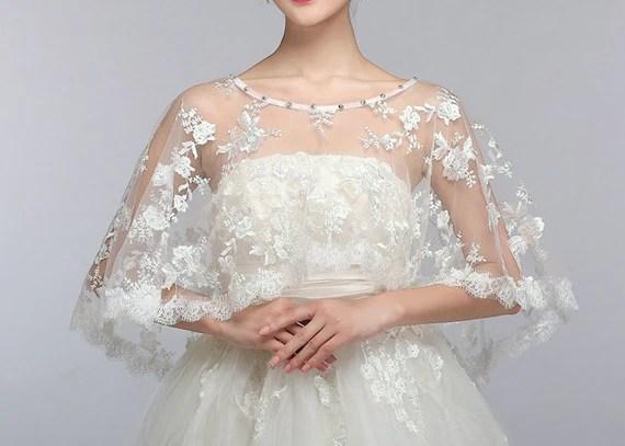 White Lace Bolero // Lace Bolero // Wedding Gown Bolero