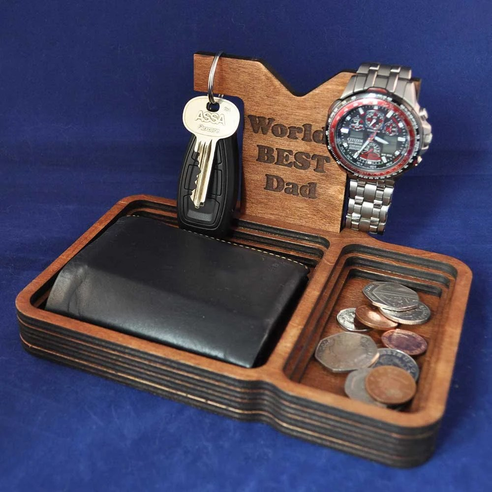 Wooden Valet Tray with re...