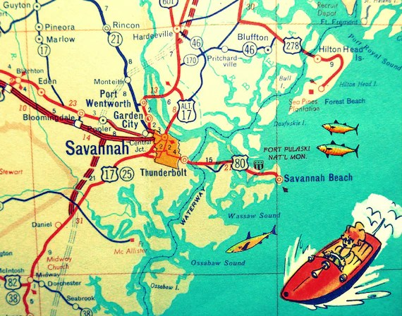 Hilton Head Map Ga And Savannah