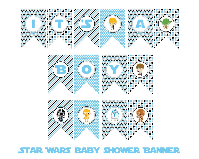 Star Wars It S A Boy Banner Star Wars Baby Shower