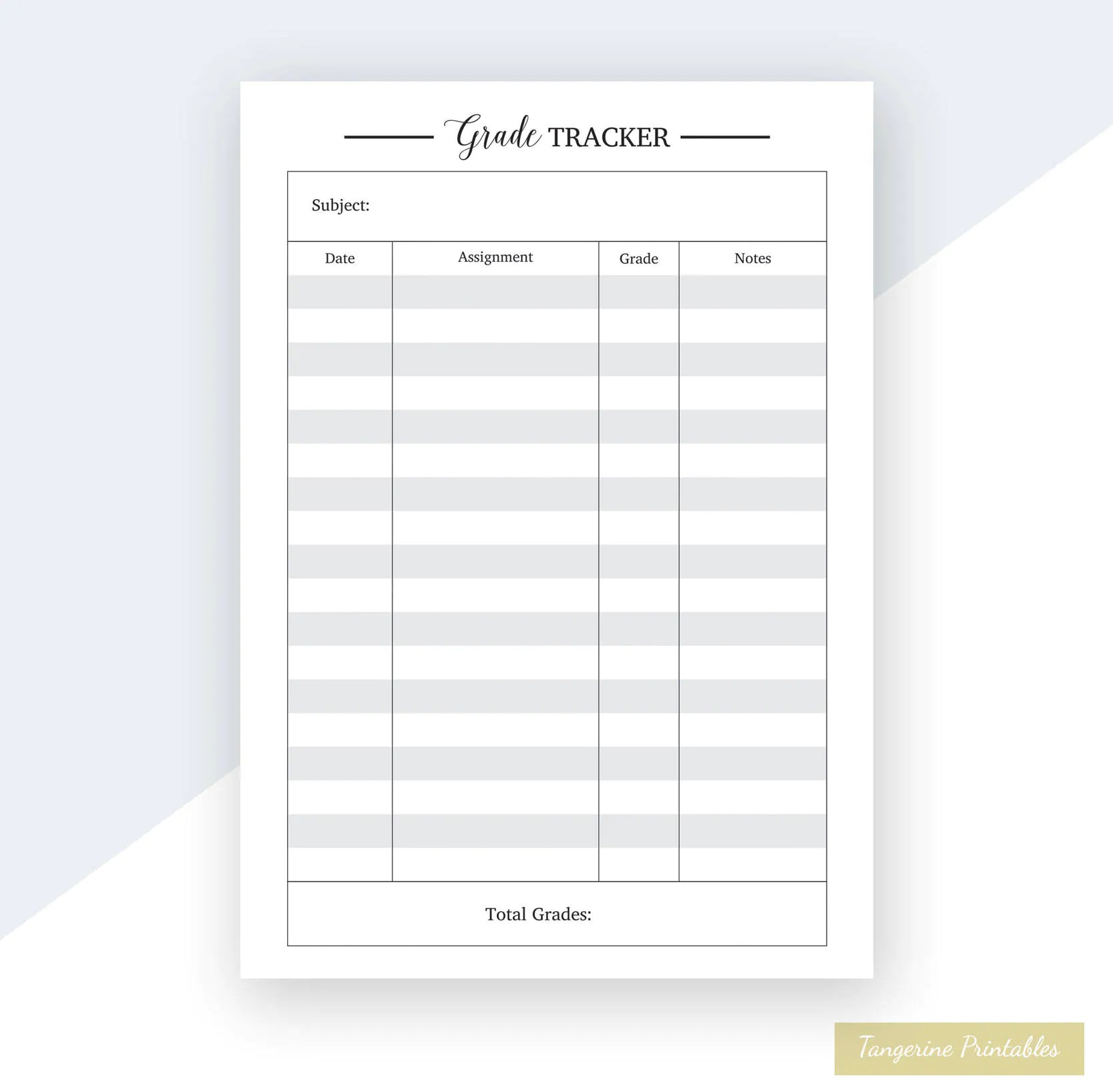 It is an image of Grade Tracker Printable inside printable 17 18