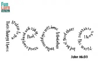 Easter svg Love svg John 3 16 For God so loved the world