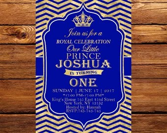 Royal blue and gold birthday invitations dulahotw prince baby shower invitation royal blue gold royal birthday invitations blue filmwisefo