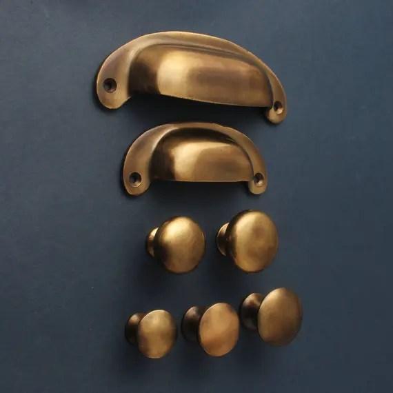 Aged Brass Drawer Pulls